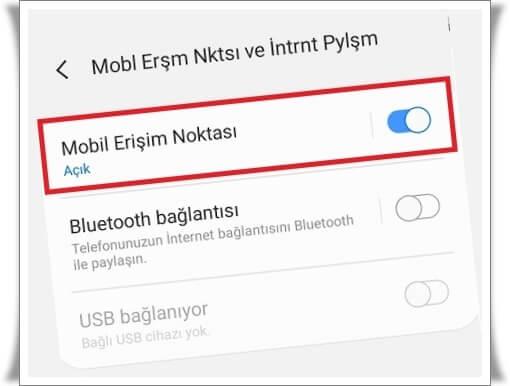 android telefonda internet paylasimi nasil yapilir 3