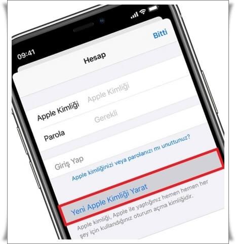 Apple hesabı nasıl oluşturulur
