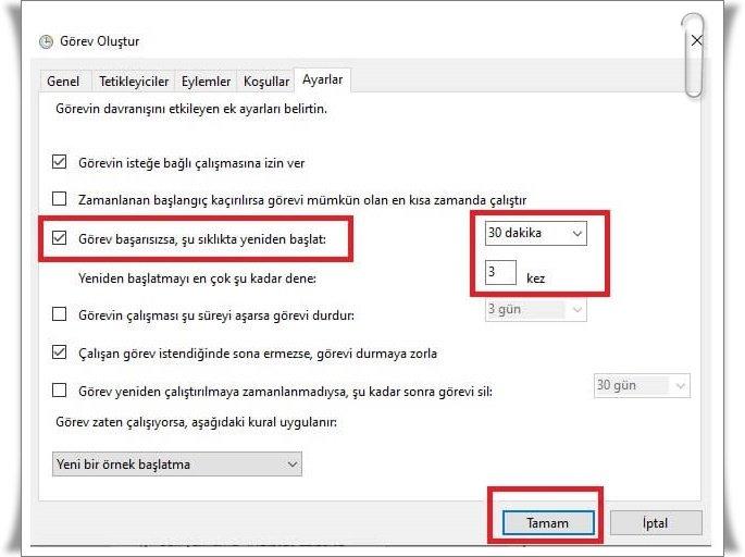 bilgisayari otomatik kapatma 6