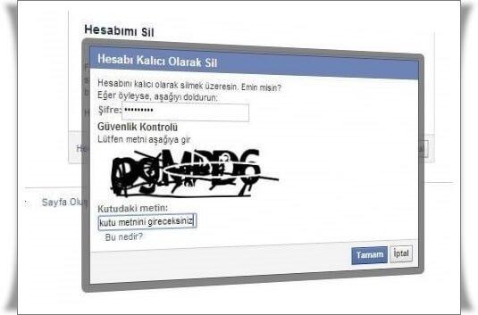 facebook hesap silme 4