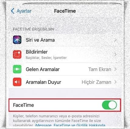 Facetime Nedir? Facetime Etkinleştirme
