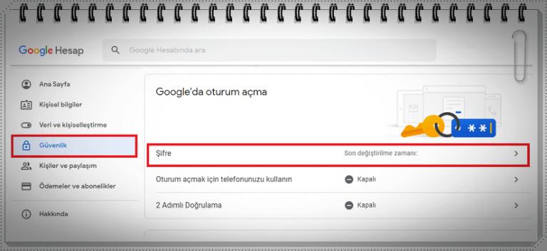 Google Şifresi Nasıl Değiştirilir?