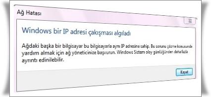 IP Çakışması nedir?