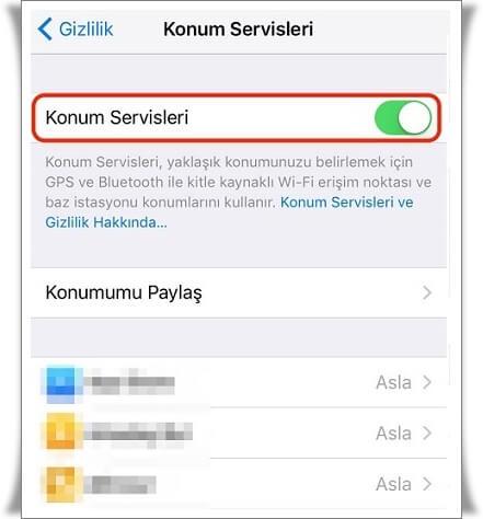 iPhone Konum Servisleri Nedir, Ne İşe Yarar?