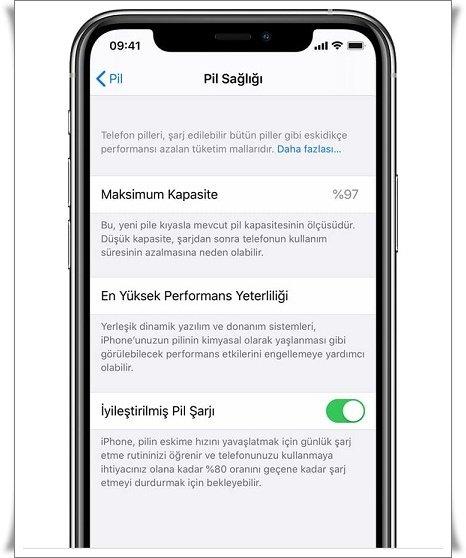 iphone pil yeteri kadar doldu uyarisi 1