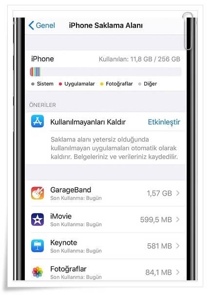 iPhone Saklama Alanı Kendi Kendine Doluyor Sorunu Nasıl Çözülür?