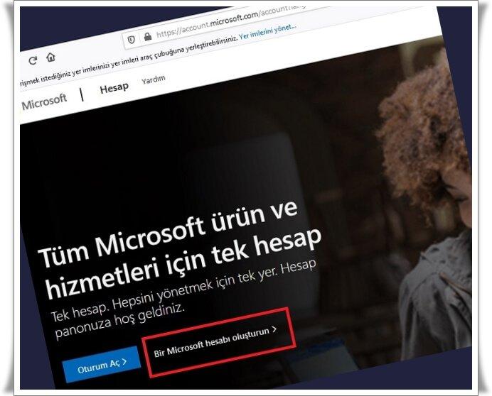 Microsoft Hesabı Nasıl Oluşturulur?