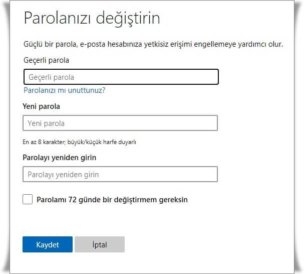 Microsoft Şifresi Nasıl Değiştirilir?