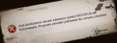 msvcr120 dll hatasi 1
