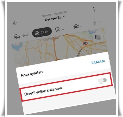 Haritada Ücretli Yollar Nasıl Kapatılır? (3 Adımda Navigasyonda Paralı Yolları Kapatma)