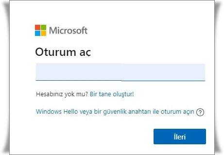 Outlook Hesabına Giriş Nasıl Yapılır?