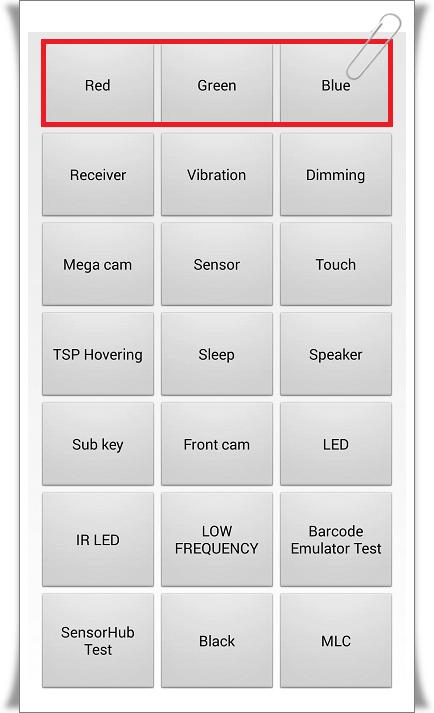 samsung ekran testi 2