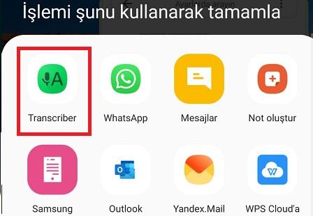 Whatsapp'ta Sesli Mesajı Yazıya Çevirme