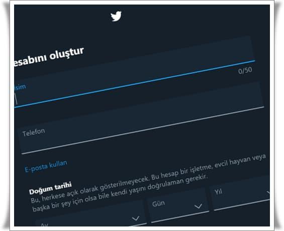 twitter hesabi nasil olusturulur 1