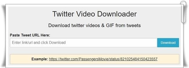 Twitter Video İndirme, Twitter Video Downloader