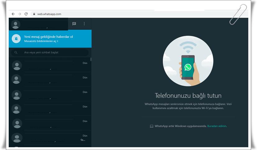 whatsapp web nasil kullanilir 5