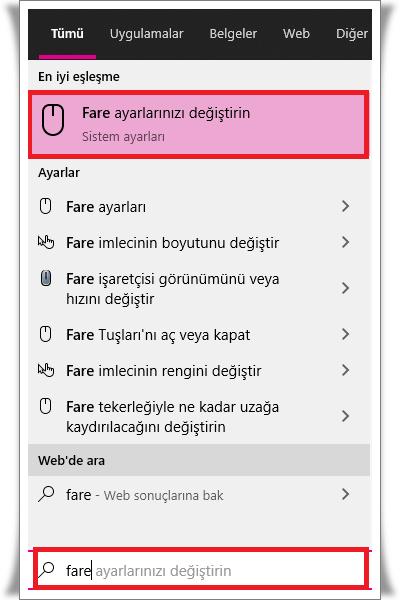 Touchpad Çift Parmak Kaydırma