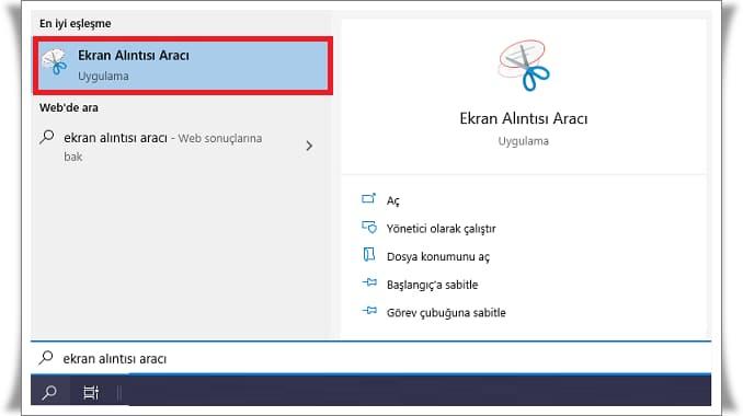 Windows 10 Ekran Görüntüsü Alma Nasıl Yapılır?