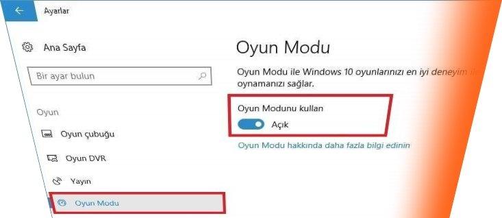 windows 10 oyun modu nedir1