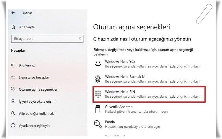 windows 10 sifre kaldirma 2