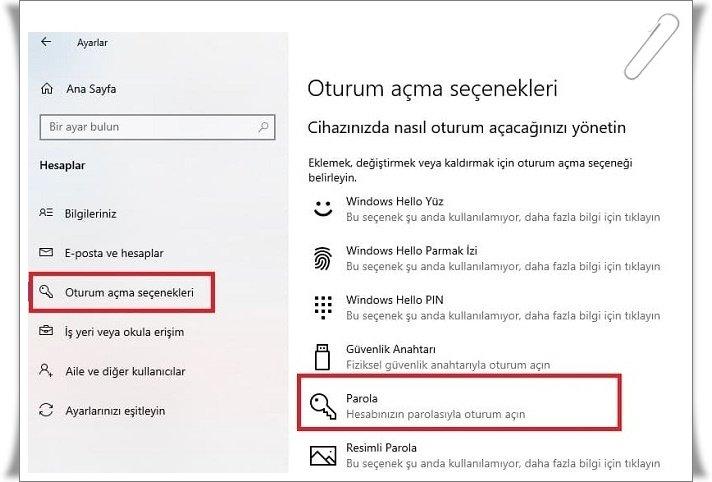 windows 10 sifre kaldirma 3