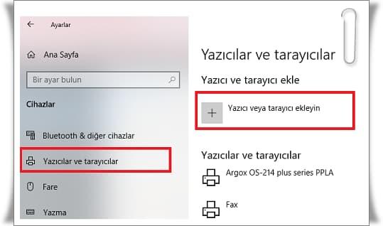 Windows 10'da Yazıcı Ekleme İşlemi Nereden Yapılır?